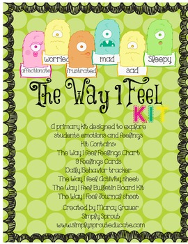 The Way I Feel Primary Kit to teach about feelings and emotions