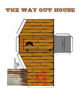 The Way Out House Story Starter Activity 3D Foldable