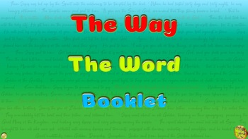 Jesus + Bible # The Way The Word ~ 11 Word Games  Booklet *Printable