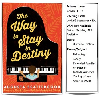 The Way To Stay in Destiny Lesson Plan