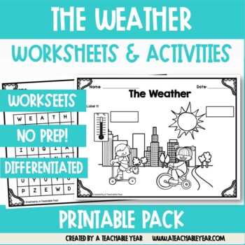 The Weather- Vocabulary Pack