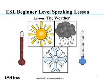 esl elementary lesson the weather