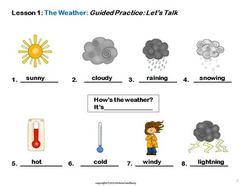 ESL Elementary Lesson: The Weather