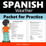 Spanish Weather Packet for Practice (El Tiempo)