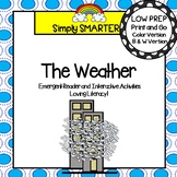 The Weather Emergent Reader Book AND Interactive Activities