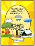 Weather Math & Literacy Cut and Paste Special Education Ma