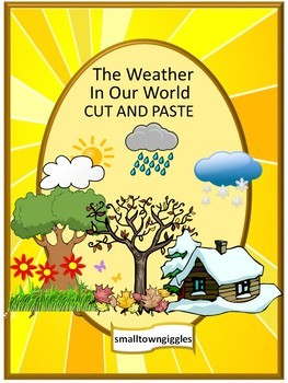 Weather Math Literacy Centers Cut Paste Special Education Math Kindergarten