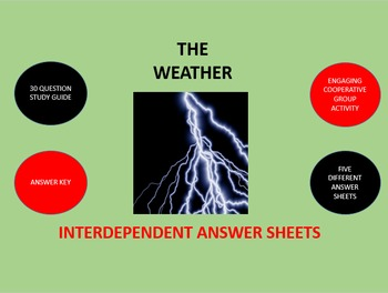 The Weather: Interdependent Answer Sheets Activity