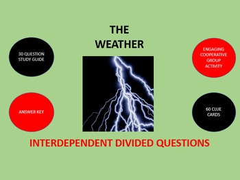 The Weather: Interdependent Divided Questions Activity