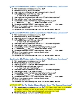 The Weather Maker by Tim Flannery Chapter 3 Guided Questions