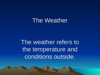 the weather powerpoint by mscardenas teachers pay teachers