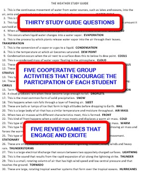 The Weather:  Study Guide and Activity Pack