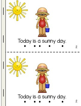 The Weather Themed Emergent Reader - Predictable and Informative Text