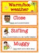 Weather Word Wall with Lovely Pictures