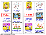 The Weather and Seasons in Spanish. Lottery. (Board Game).