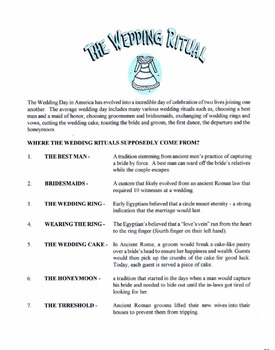 The Wedding Ritual Lesson