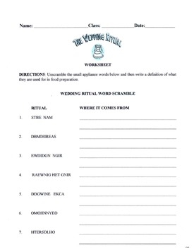 The Wedding Ritual Lesson