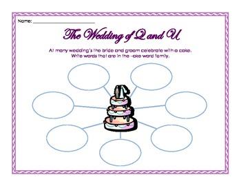 The Wedding of Q and U printables