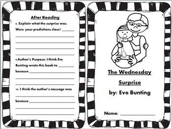 The Wednesday Surprise Book Unit by: Eve Bunting