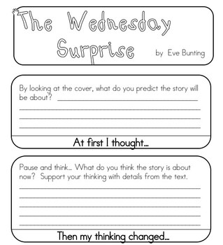 The Wednesday Surprise - Inferring - Flip book