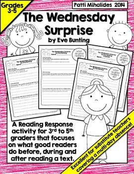 The Wednesday Surprise by Eve Bunting: A Reading Response Activity