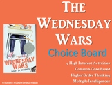 The Wednesday Wars Choice Board Menu Novel Study Activitie