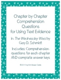The Wednesday Wars Comprehension Questions for Using Text