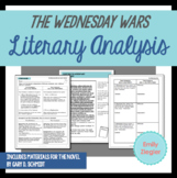 The Wednesday Wars Literary Analysis Graphic Organizers