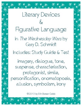 The Wednesday Wars Literary Devices and Figurative Language Common Core Aligned