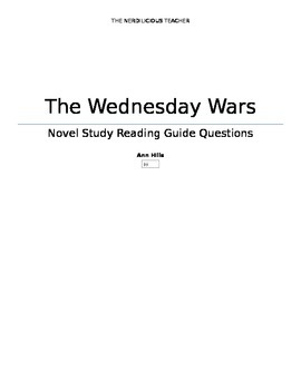 The Wednesday Wars - Novel Study Questions