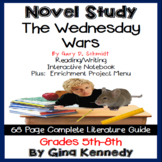 The Wednesday Wars Novel Study and Enrichment Project Menu