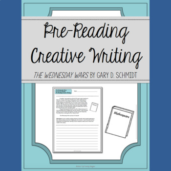 The Wednesday Wars Pre-Reading Creative Writing Activity