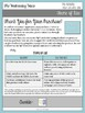 The Wednesday Wars by Gary D. Schmidt Pre-Reading Creative Writing Activity