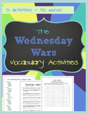 The Wednesday Wars - Vocabulary Activities