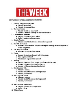 The Week Magazine Questions