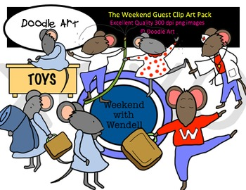 The Weekend Guest Clipart Pack