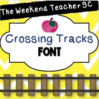 The Weekend Teacher SC Crossing Tracks Font