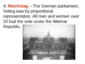 Weimar Germany Constitution Quiz