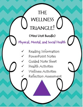 Health: The Wellness Triangle (Physical, Social, Mental)