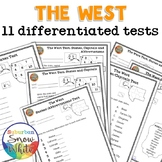The West: 11 Differentiated Tests - States, Capitals, Abbr