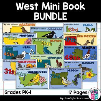 The West United States Mini Book Bundle- California, Nevada, Colorado, Idaho