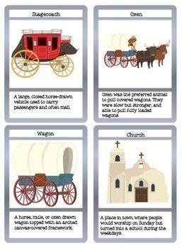The Western Frontier Story Workbook and Flashcards
