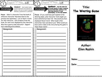 The Westing Game (Studying Characters)