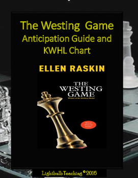 The Westing Game Anticipation Guide and KWHL Chart