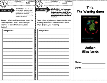 The Westing Game (Bloom's Taxonomy) Trifold