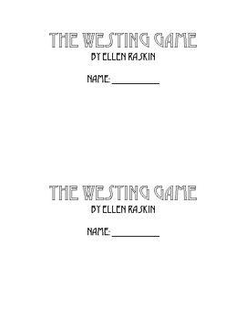 The Westing Game Book Club