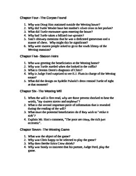 The Westing Game Chapter Questions and character map