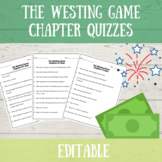 The Westing Game Chapter Quizzes-EDITABLE