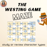 The Westing Game Character Types Game Maze & Answer Key