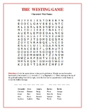 The Westing Game: Characters' First Names Word Search w/Hi